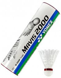 Bedmintonové košíky Yonex Mavis 2000 White (dóza po 6 ks)