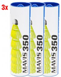 Bedmintonové košíky Yonex Mavis 350 - 3x