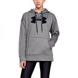 BLACK FRIDAY - Dámska mikina Under Armour Synthetic Fleece Chenille Logo PO Hoodie šedá