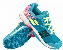 BLACK FRIDAY - Juniorská tenisová obuv Babolat Jet Clay JR Blue/Pink