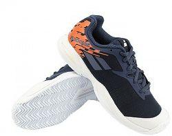 BLACK FRIDAY - Juniorská tenisová obuv Babolat Jet Clay JR White/Blue