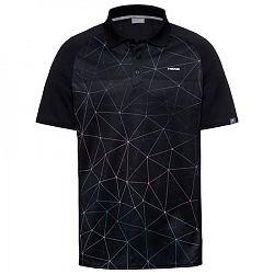 BLACK FRIDAY - Pánske tričko Head Performance Polo Black