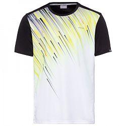 BLACK FRIDAY - Pánske tričko Head Vision Slider Black/Yellow/White