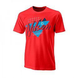 BLACK FRIDAY - Pánske tričko Wilson Nostalgia Tech Tee Red