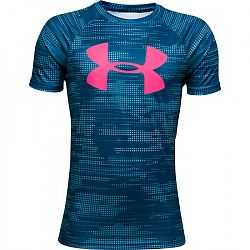 Chlapčenské tričko Under Armour Tech Big Logo Printed SS grafitovo modré