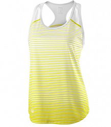 Dámske tielko Wilson Team Striped Yellow/White