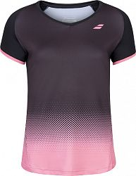 Dámske tričko Babolat Compete Cap Sleeve Top Black/Pink