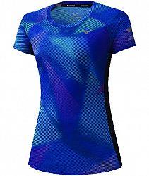 Dámske tričko Mizuno Aero Graphic Tee modré