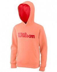 Detská mikina Wilson Cotton PO Hoody Papaya