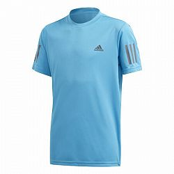 Detské tričko adidas Boys Club 3-Stripes Light Blue