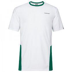 Detské tričko Head Club Tech White/Green
