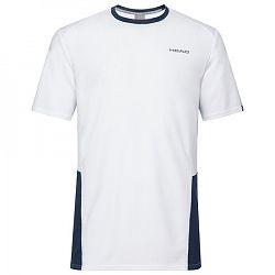 Detské tričko Head Club Tech White/Navy