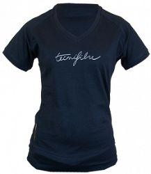 Detské tričko Tecnifibre Lady Cotton Black
