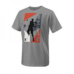 Detské tričko Wilson Geo Play Tech Tee Heather Grey