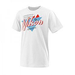 Detské tričko Wilson Nostalgia Tech Tee White
