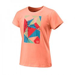 Detské tričko Wilson Prism Play Tech Tee Papaya
