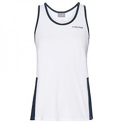 Dievčenské tielko Head Club Tank White/Navy