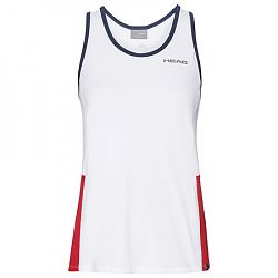 Dievčenské tielko Head Club Tank White/Red