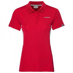 Dievčenské tričko Head Club Tech Polo Red