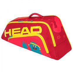 Juniorská taška na rakety Head Junior Combi Novak Red/Yellow