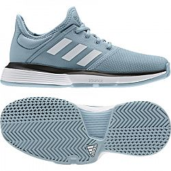 Juniorská tenisová obuv adidas SoleCourt Grey/Light Blue