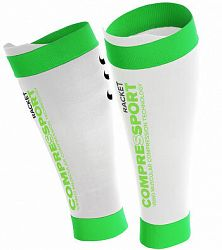Kompresné návleky na holene Compressport Pro Silicon R2 White/Green