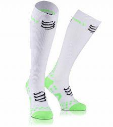 Kompresné podkolienky Compressport Full Socks White