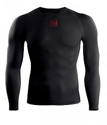 Kompresné tričko Compressport Long Sleeve Top Black