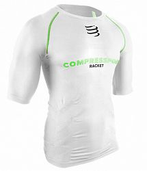 Kompresné tričko Compressport Short Sleeve Top White