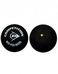 Loptička na squash Dunlop - 1 žltá bodka
