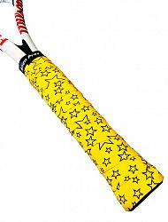 Omotávka na rakety vrchná Alien Pros X-Dry Plus Yellow Stars