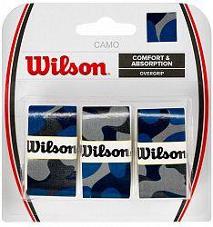 Omotávka na rakety vrchná Wilson Camo Overgrip Blue (3 ks)
