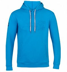 Pánska mikina Babolat Exercise Hood Sweat Blue