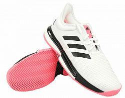 Pánska tenisová obuv adidas SoleCourt White