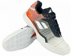 Pánska tenisová obuv Babolat Jet Mach II Clay White/Orange