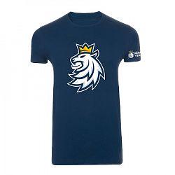 Pánske tričko Český hokej Lev tmavomodré