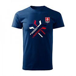 Pánske tričko Hockey Slovakia prekrížené hokejky