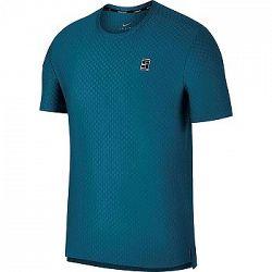 Pánske tričko Nike Court Checkered Green Abyss