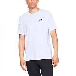 Pánske tričko Under Armour Sportstyle Left Chest SS biele