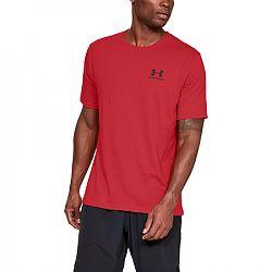 Pánske tričko Under Armour Sportstyle Left Chest SS červené
