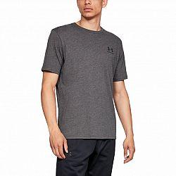 Pánske tričko Under Armour Sportstyle Left Chest SS Grey