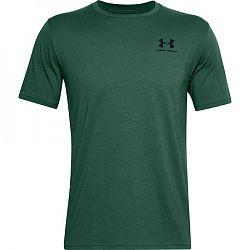 Pánske tričko Under Armour Sportstyle Left Chest SS tmavo zelené