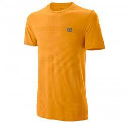 Pánske tričko Wilson Competition Seamless Crew Orange