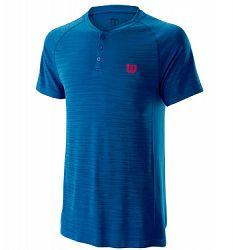 Pánske tričko Wilson Competition Seamless Henley Blue