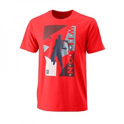 Pánske tričko Wilson Geo Play Tech Tee Red