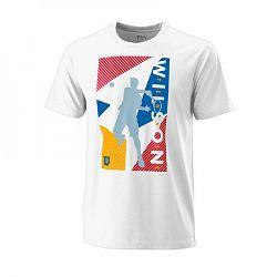 Pánske tričko Wilson Geo Play Tech Tee White