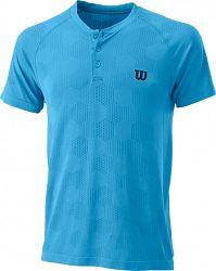Pánske tričko Wilson Power Seamless Henley Blue