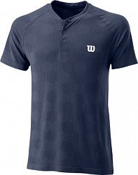 Pánske tričko Wilson Power Seamless Henley Navy