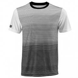 Pánske tričko Wilson Team Striped Crew Black/White