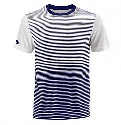 Pánske tričko Wilson Team Striped Crew Blue/White